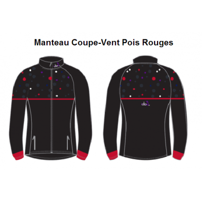 Manteau Coupe-vent (Pois Rouges) Unisexe