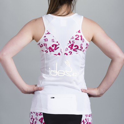 Women's Top 42.2 Stamina White with white topstitching