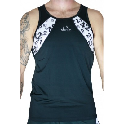 Men's Tank Top 42.2 Stamina  Black Jersey  (White)