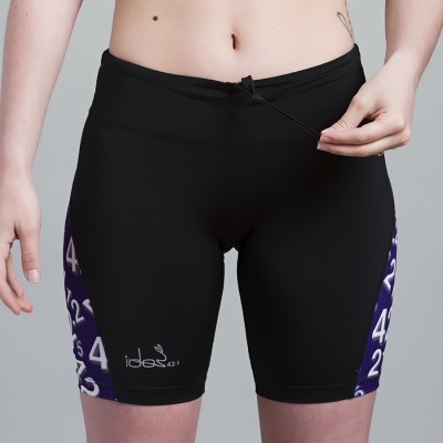 Compression Short 42.2 Stamina  Black (Purple-White)