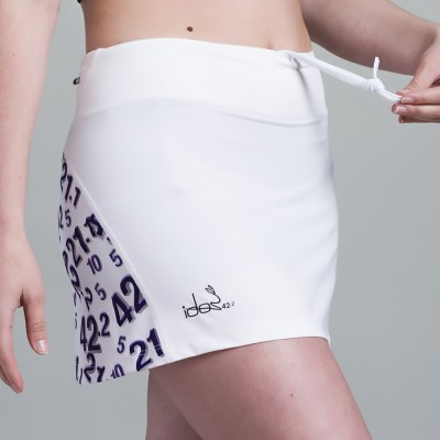 Skirt with built-in Compression Short 42.2 Stamina  White (White-Purple)