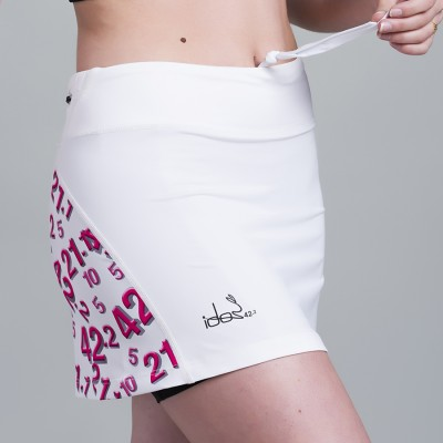 Skirt with built-in Compression Short 42.2 Stamina  White (White-Pink)