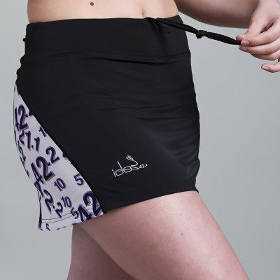 Skirt with built-in Compression Short 42.2 Stamina  Black (White-purple)