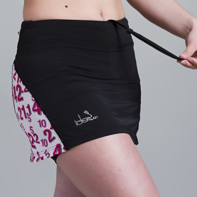 Skirt with built-in Compression Short 42.2 Stamina  Black (White-Pink)