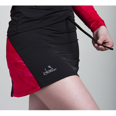 Skirt with built-in Compression Short 42.2 Stamina  Black (Raspberry-Pink)