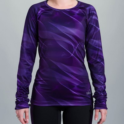 Women's Long Sleeve Running Shirt (Purple)
