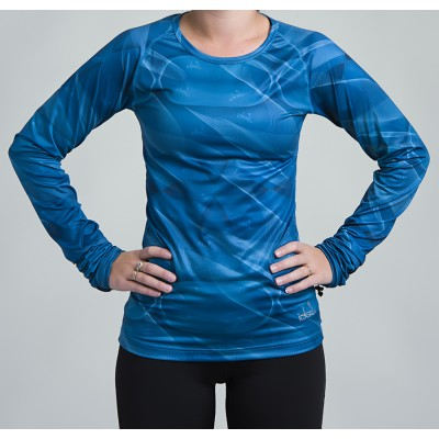 Women's Long Sleeve Running Shirt (Teal)