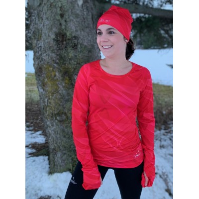 Women's Long Sleeve Running Shirt (Raspberry-Pink)