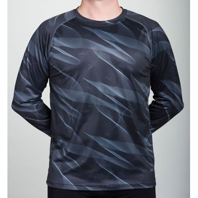 Men's Long Sleeve Running Shirt  42.2 (Grey)