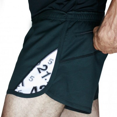 Men's Running Short  42.2 Stamina Black (White)