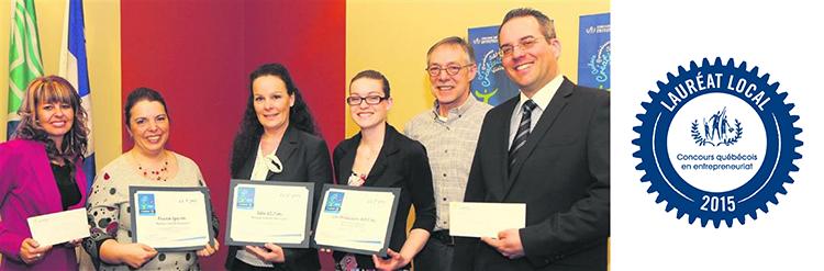 Au centre : Isabelle Dos Santos (Idos 42.2 – 1er prix)